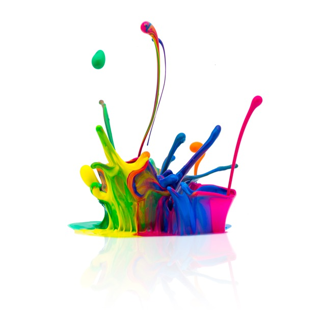 Colourful splash