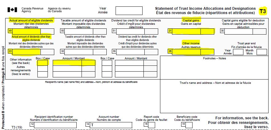 Forensic review of the CRA Form T–3