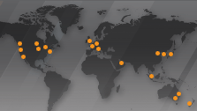 Russell Investments global office locations map