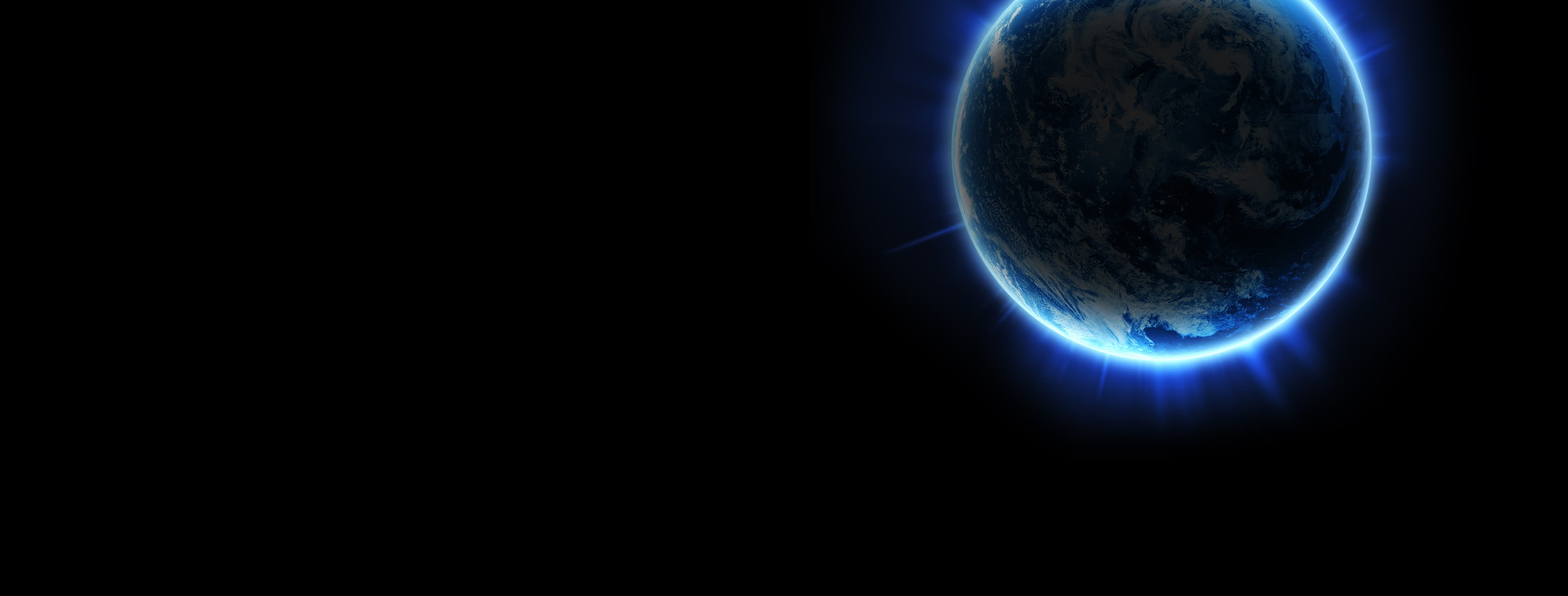 Glowing earth