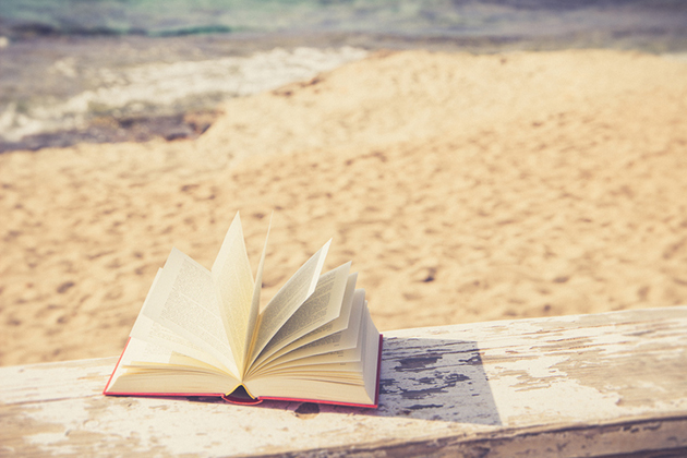 Russell Investments blog image of book on beach