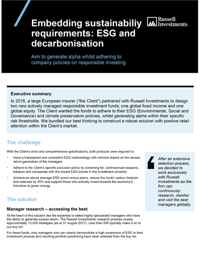 ESG and Decarbonisation Case Study Thumb