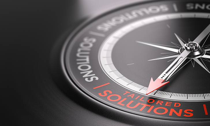 Compass dial on tailored solutions